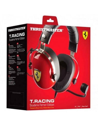 auriculares gaming thrustmaster t. racing ferrari edition